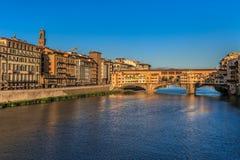 Ponte Vecchio Bridge, Italy. Ponte Vecchio over Arno river in Florence, Italy Stock Photo