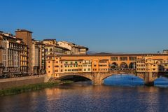 Ponte Vecchio Bridge, Italy Stock Images