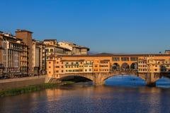 Ponte Vecchio Bridge, Italy. Ponte Vecchio over Arno river in Florence, Italy Stock Images