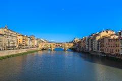 Ponte Vecchio Bridge, Italy. Ponte Vecchio over Arno river in Florence, Italy Royalty Free Stock Photography