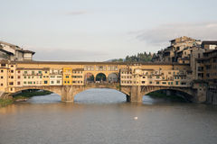 Ponte Vecchio Bridge and the River Arno, Florence Royalty Free Stock Photos