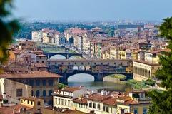 Ponte Vecchio. Vecchio bridge taken from the Belvedere, Florence, Italy Royalty Free Stock Photos