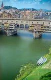 Ponte Vecchio & x22; 老Bridge& x22; 免版税图库摄影
