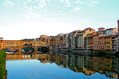 Ponte Vecchio. The colours of Ponte Vecchio in Florence Royalty Free Stock Photo