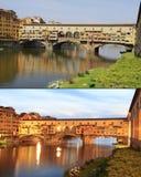 Ponte Vecchio, day light and dusk, Florence Stock Image