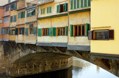 Ponte Vecchio detail in Florence Italy Royalty Free Stock Photos