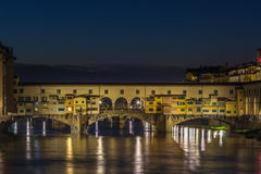 Ponte Vecchio in evening, Florence, Italy Royalty Free Stock Image