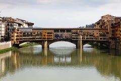 Ponte Vecchio a Firenze Fotografia Stock Libera da Diritti