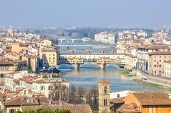 Ponte Vecchio a Firenze, Italia Immagini Stock