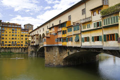Ponte vecchio in Firenze, Italy. City view of Firenze, the ponte vecchio in the river Arno Stock Photography