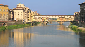 Ponte Vecchio, Florence. Ponte Vecchio, crossing the Arno in Florence, Italy Stock Image