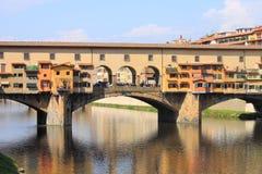 Ponte Vecchio in Florence Stock Afbeelding