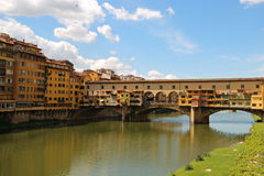 Ponte Vecchio. In Florence on Arno river Royalty Free Stock Photos