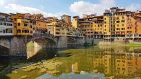 Ponte Vecchio in Florence. On hot sunny summer day Stock Photos
