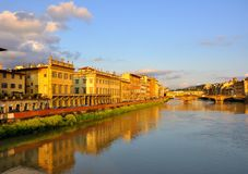 Ponte Vecchio in Florence, Italië Royalty-vrije Stock Afbeelding