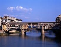 Ponte Vecchio, Florence, Italië. stock afbeeldingen