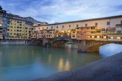 Ponte Vecchio, Florence, Italië, Europa Royalty-vrije Stock Foto