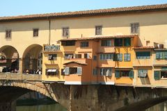 Ponte Vecchio in Florence, Italië, Oude Brug royalty-vrije stock afbeelding