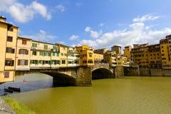 Ponte Vecchio, Florence, Italien arkivfoto
