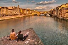 Ponte Vecchio, Florence, Italien Arkivfoton