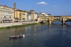 Ponte Vecchio - Florence - Italien Fotografering för Bildbyråer