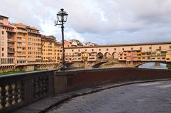 Ponte Vecchio in Florence. Ponte Vecchio in Florence in Italy Royalty Free Stock Image