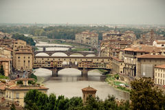 Ponte Vecchio in Florence, Italy Royalty Free Stock Photos