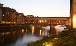 The Ponte Vecchio in Florence , Italy Royalty Free Stock Images