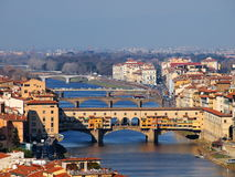 Ponte Vecchio, Florence, Italy. Photo was taken in February Royalty Free Stock Image