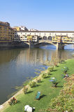 Ponte Vecchio Florence Italy Arkivbild