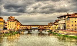 The Ponte Vecchio in Florence Royalty Free Stock Photo