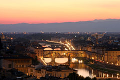 Ponte Vecchio in Florence, Italy Stock Image
