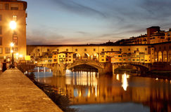 Ponte Vecchio in Florence, Italy Royalty Free Stock Images