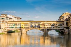Ponte Vecchio in Florence, Italy. Sunny day Stock Photo