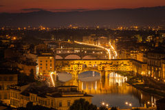 Ponte Vecchio, Florence at night Royalty Free Stock Photo