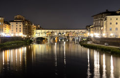Ponte Vecchio, Florence nightview Royalty Free Stock Photo
