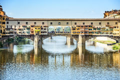 Ponte Vecchio in Florence. Picture of the famous ponte Vecchio in Florence, Italy Stock Photo