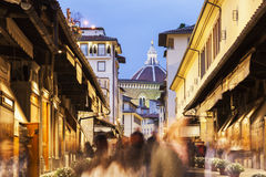 Ponte Vecchio in Florence. Ponte Vecchio and Florence Cathedral. Florence, Tuscany, Italy Stock Photography