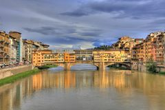 Ponte Vecchio and Florence riversides Stock Image
