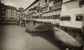 Ponte Vecchio, Florence. Side view of Ponte Vecchio in Florence, Italy Stock Image