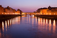 Ponte Vecchio, Florence, Toscanië, Italië Royalty-vrije Stock Fotografie