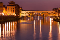 Ponte Vecchio, Florence, Tuscany, Italy. Night view on Ponte Vecchio, Florence, Tuscany, Italy Royalty Free Stock Images