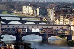 Ponte Vecchio of Florence in Tuscany, Italy Royalty Free Stock Photography