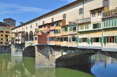Ponte Vecchio,Florence,Tuscany,Italy. The famous Bridge called Ponte Vecchio in Florence,Tuscany,Italy Royalty Free Stock Images