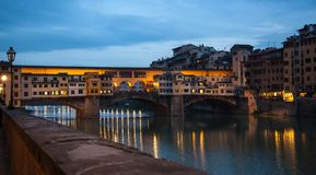 Ponte Vecchio Florence twilight Royalty Free Stock Photography