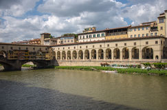 Ponte Vecchio, Florencja, Włochy fotografia royalty free