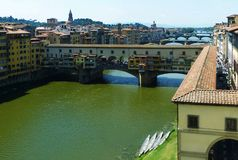 Ponte Vecchio in Florenz stockfotografie