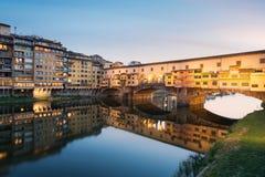Ponte Vecchio, Florenz Stockfoto