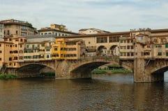Ponte Vecchio in Florenz, Italien stockbild