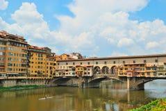 Ponte Vecchio in Florenz, Italien Stockfotografie